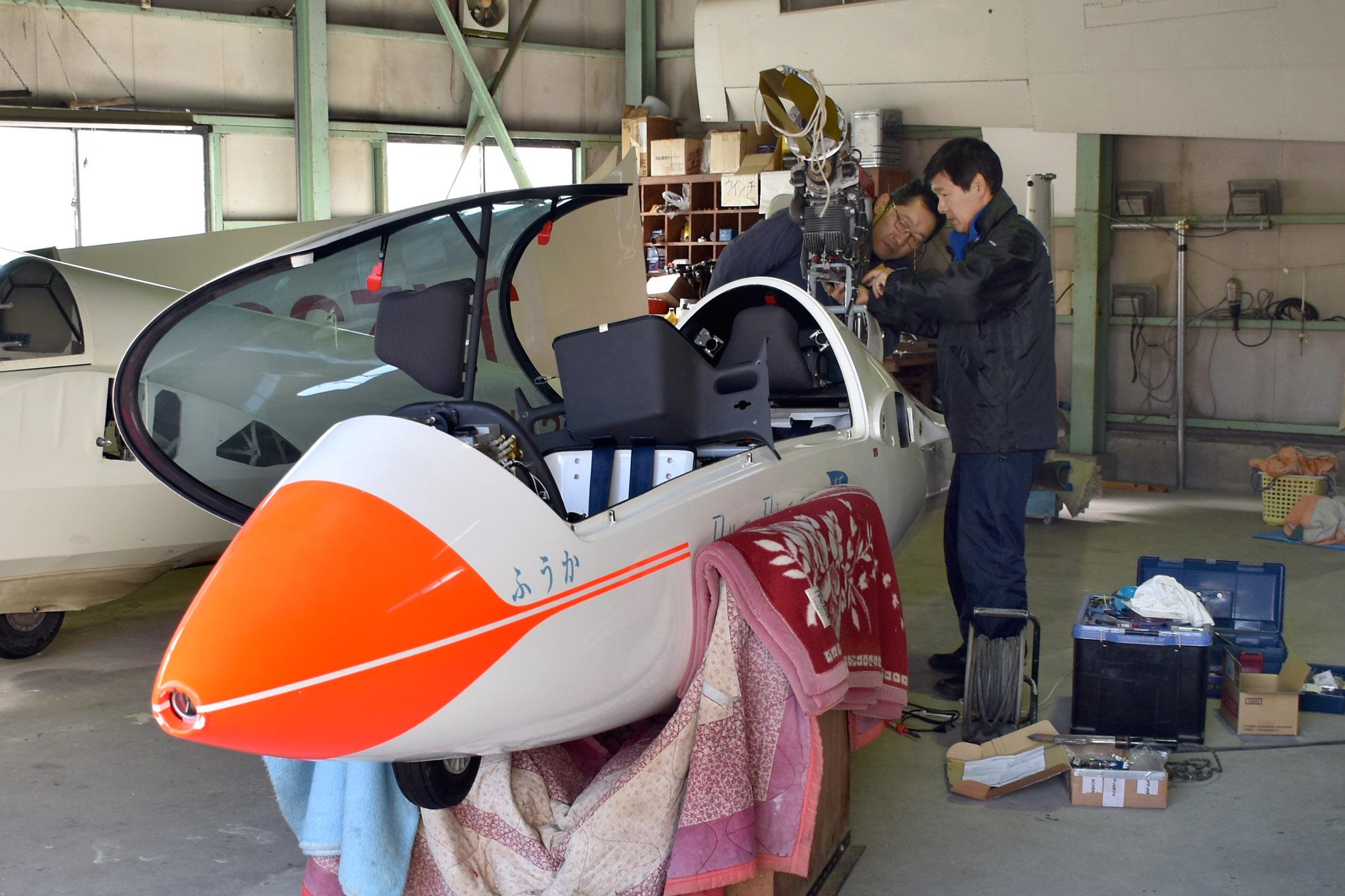 耐空検査整備の担は北整備士と山崎整備士